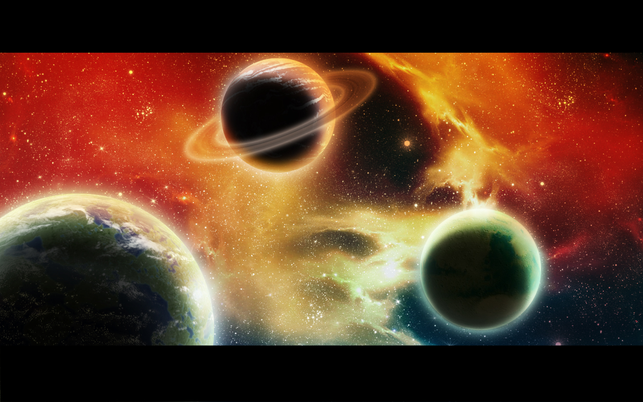Psychedelic Space By Binouse49