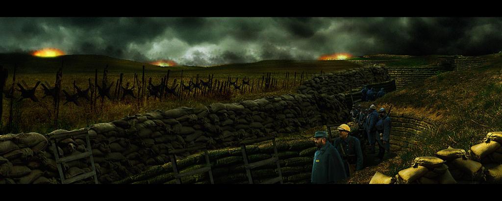 Trench WW1 by binouse49