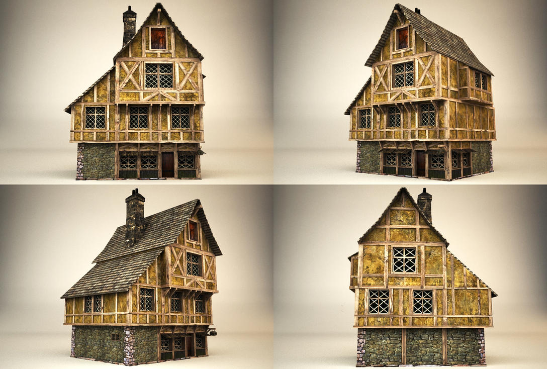 Medieval house by binouse49 on deviantart for Fantasy house plans