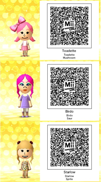 Tomodachi life super mario qr codes 2 by thesingettesrback on
