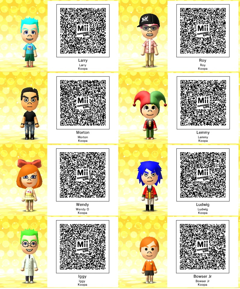 mii codes qr codes favourites by sweetheart1012 on deviantart