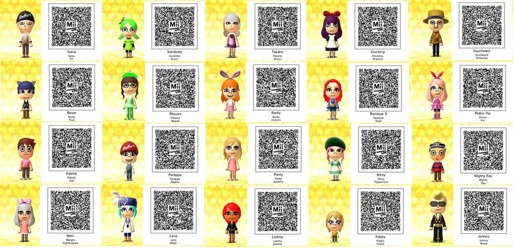 Daisy Mii Qr Code Tomodachi Life: Tomodachi Life-Bunch Of QR Codes By TheSingettesRBack On
