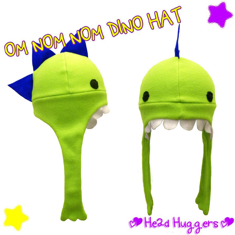 OM NOM NOM Dino hat by MikilofSouthern