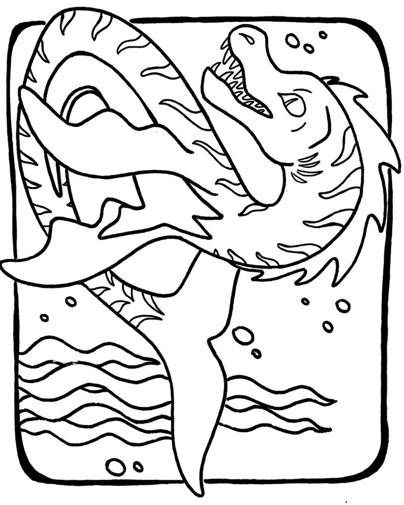 Sea monster coloring page by emra green on deviantart for Sea monster coloring pages