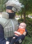Kakashi-sensei and baby Naruto