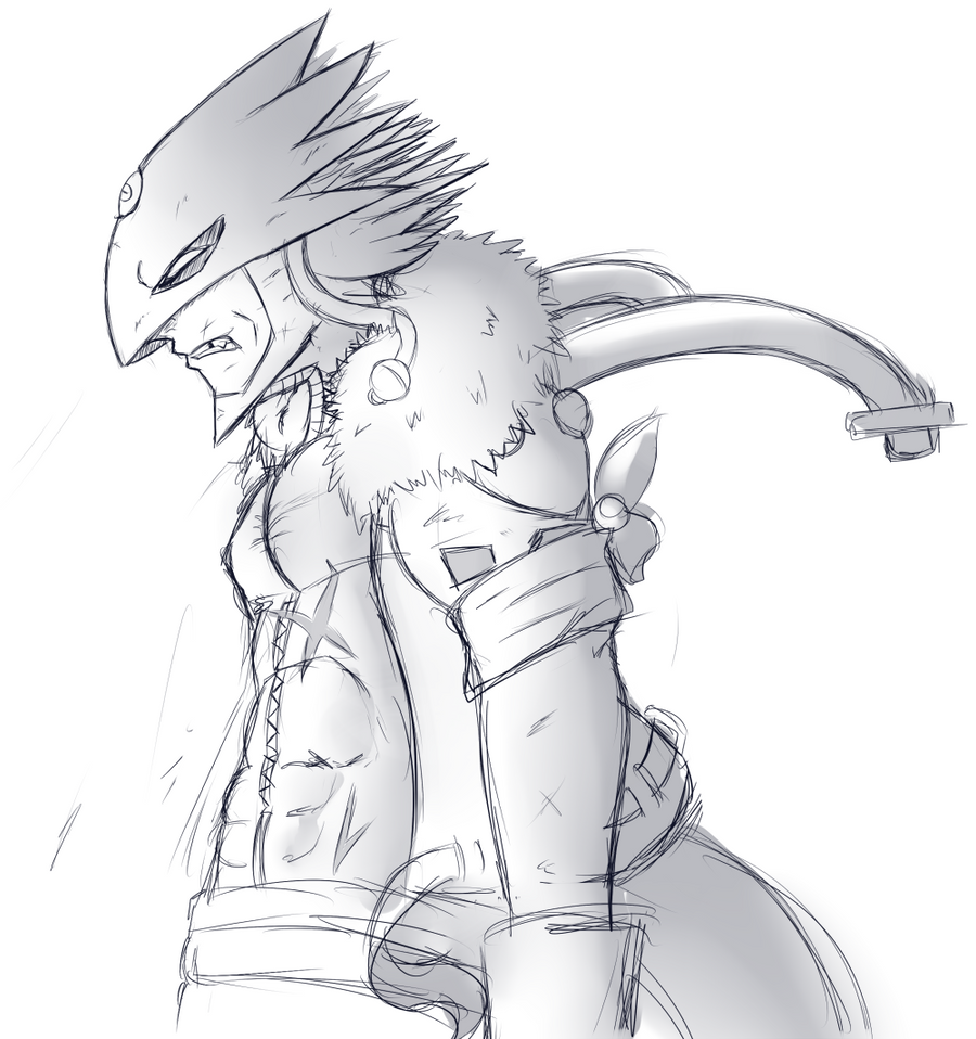 Beelzemon Sketch by Takkuun