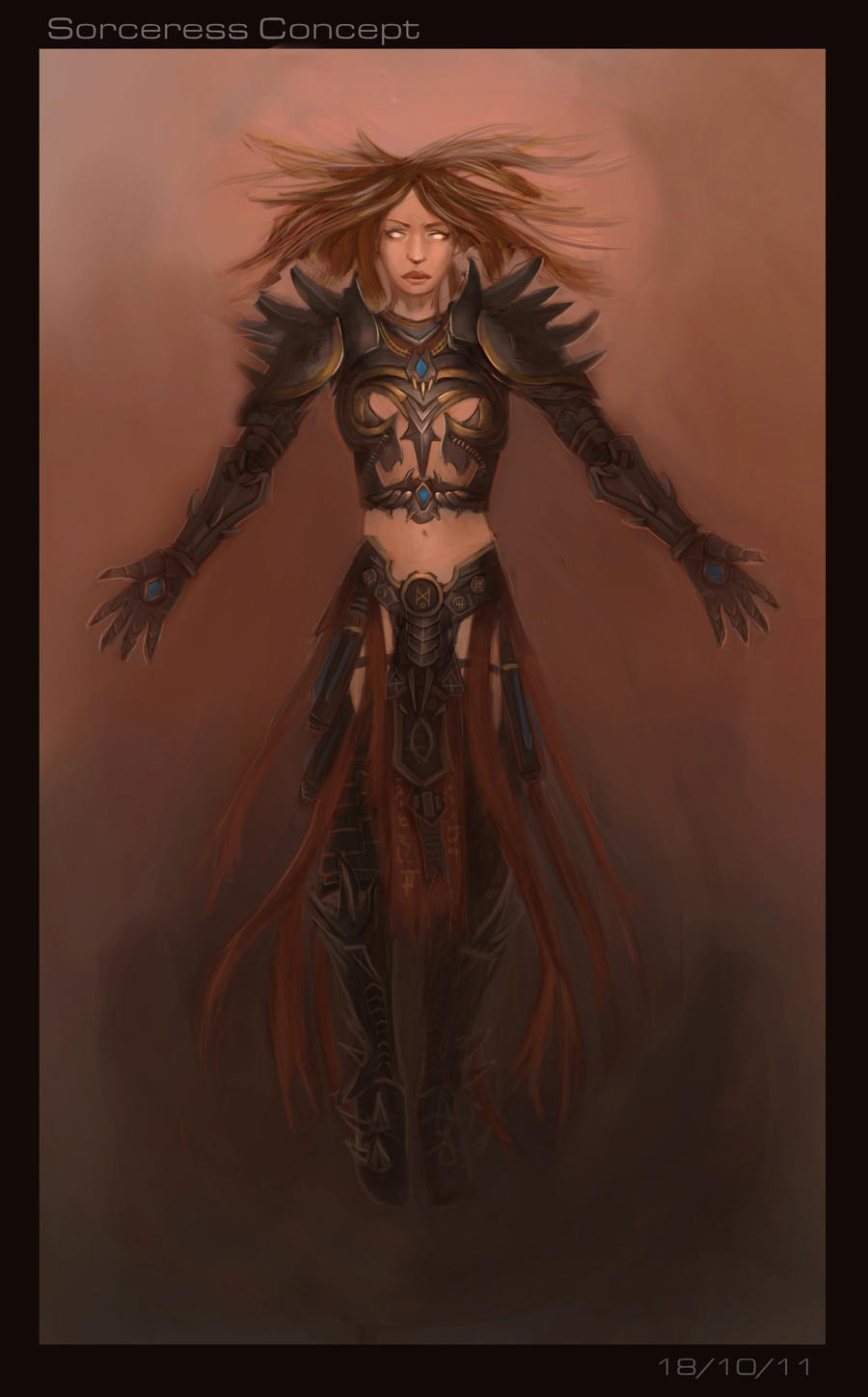Sorceress Armour Concept by Firegardensuite