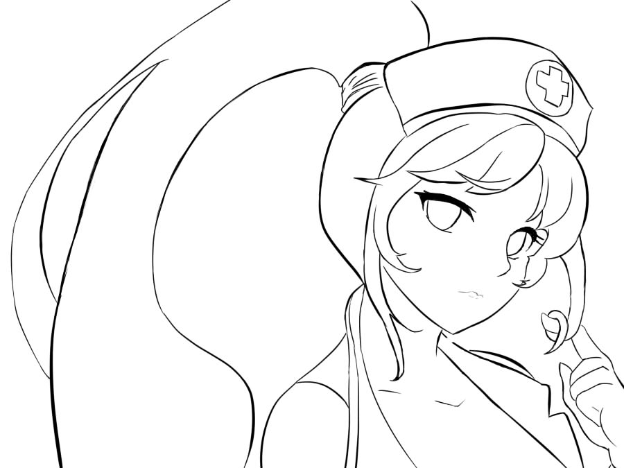 Line Drawing Nurse : Nurse akali league of legends lineart by zeroxpoint on