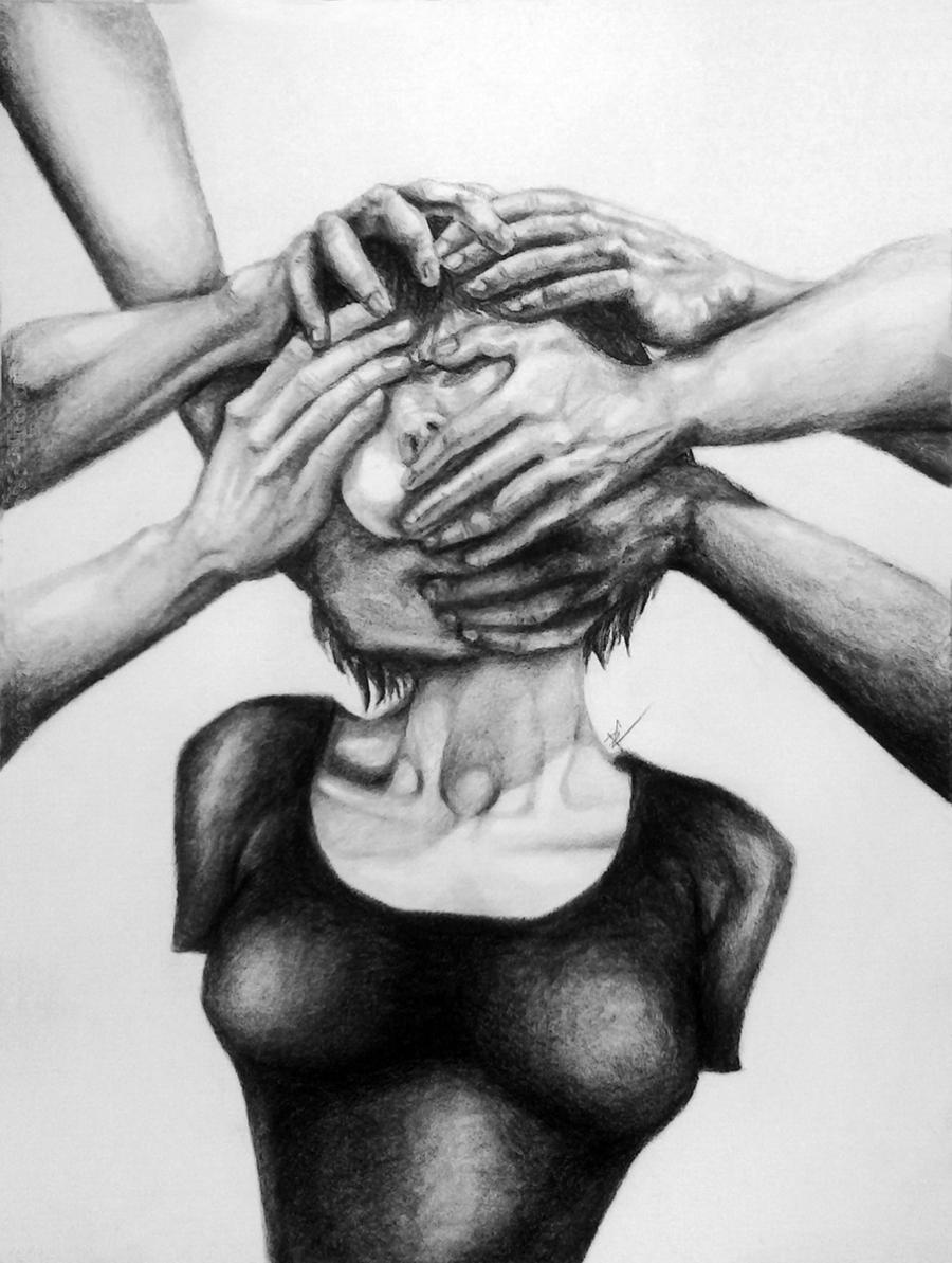 Autorretrato en brazos by Dorapz