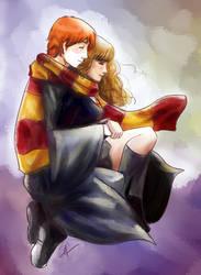 Ron and Hermione by Dorapz