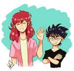 Kurama and Hiei by Dorapz