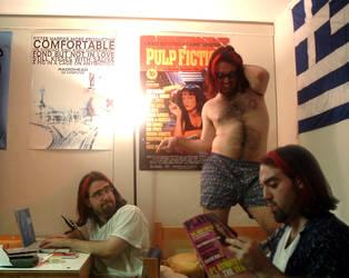 The Adams Slumber Party by evilada