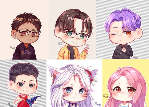 Icons and halfbody chibis (Commissions)
