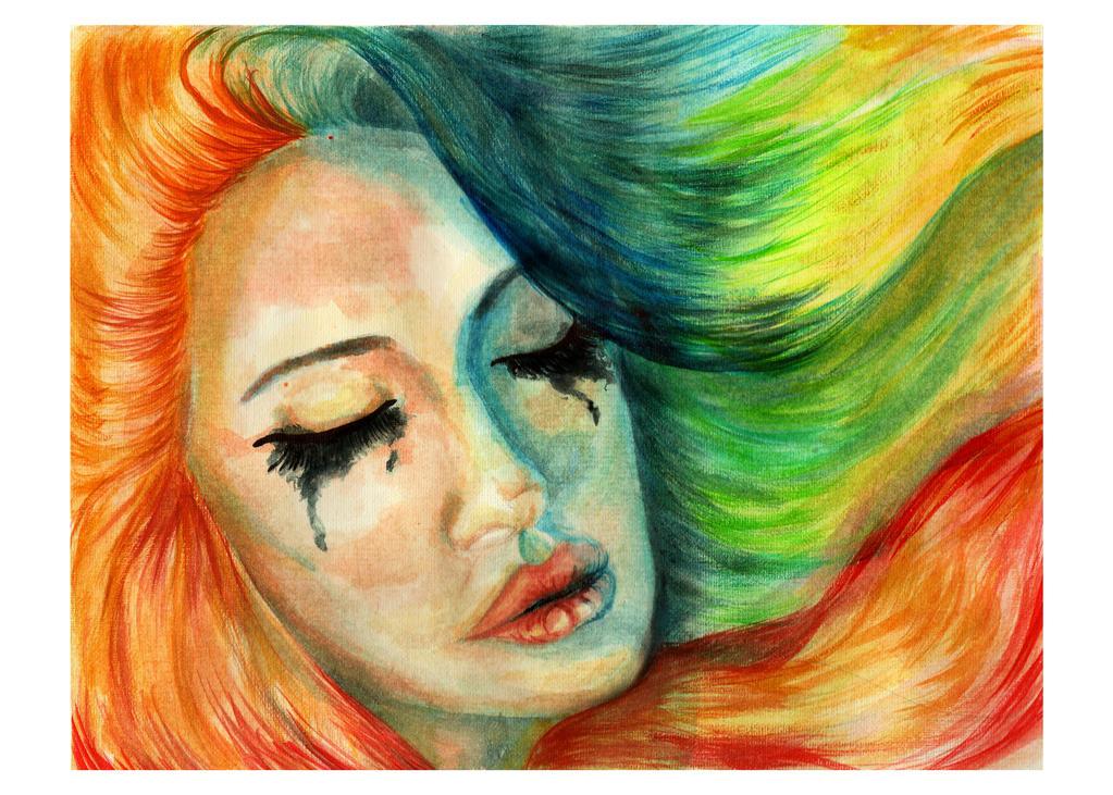 Sad Rainbow Girl by Shahinura on DeviantArt