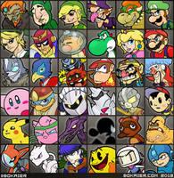 Nintendo Smash Portraits by BoKaier