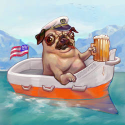 Pug Boat (My Happy Place)