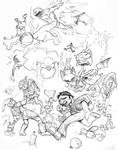 Smash Brothers Pen Sketch