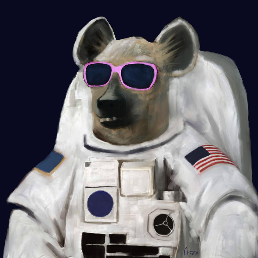dog astronaut by chrzan666