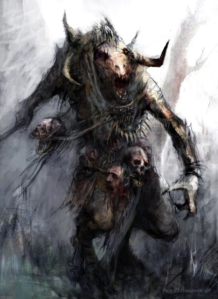 Beastman warrior by chrzan666