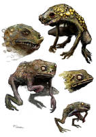 Horror Frogs by chrzan666