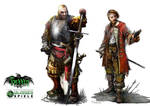 Hexxen 1733 RPG Character illustrations