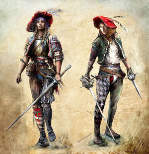 15th Female fencer character