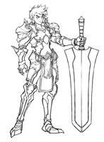 Concept sketch 3 - warrior by windship