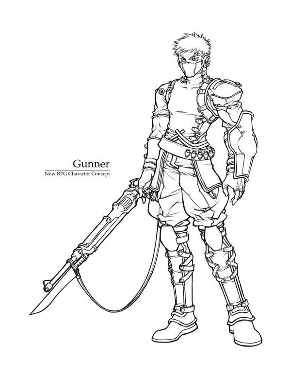 Concept sketch - Gunner by windship