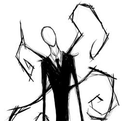 Slender man by AcidicDoll