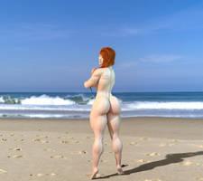 Selina at the beach (Remake) 3