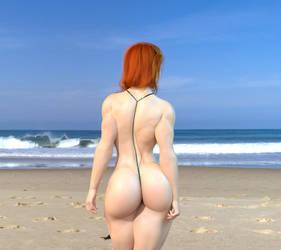 Selina at the beach (Remake) 2