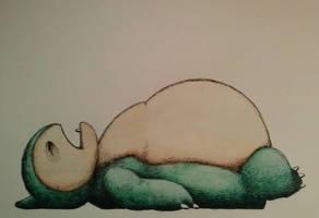 Snorlax by ChainsawTeddybear