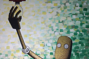Lighting Bot by ChainsawTeddybear