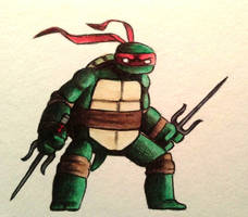 Raph watercolor by ChainsawTeddybear