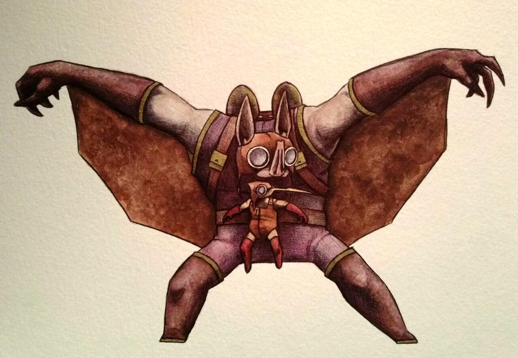 Wingnut and Screwloose watercolor by ChainsawTeddybear