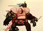 TMNT vs Krang watercolor