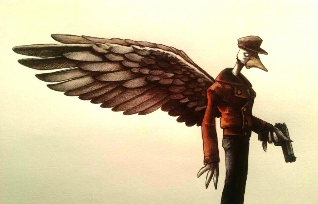 Ace Duck watercolor by ChainsawTeddybear