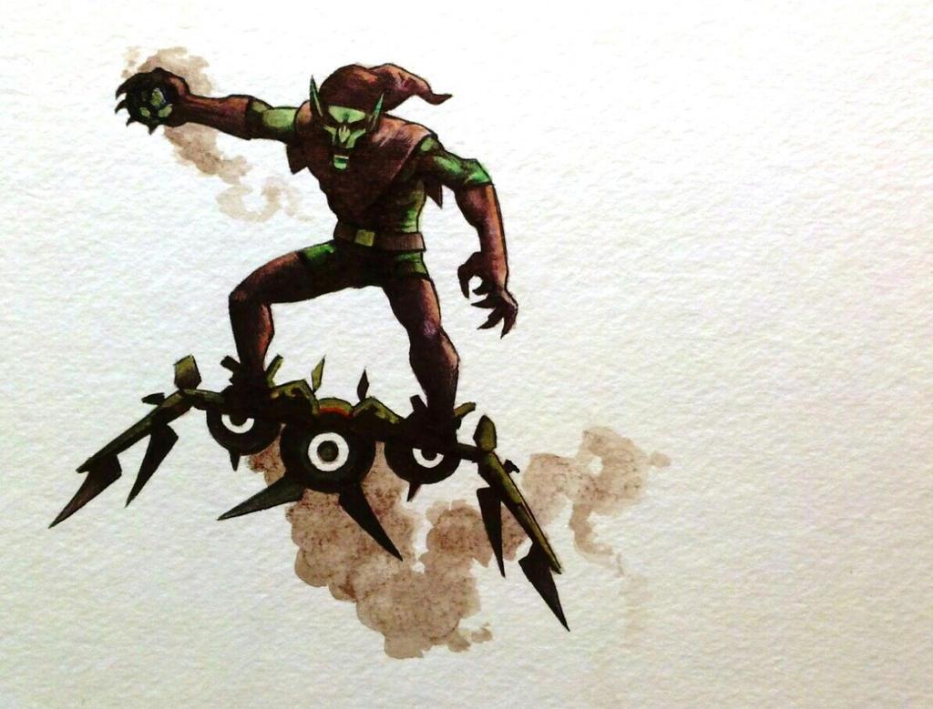 Green Goblin watercolor by legumebean