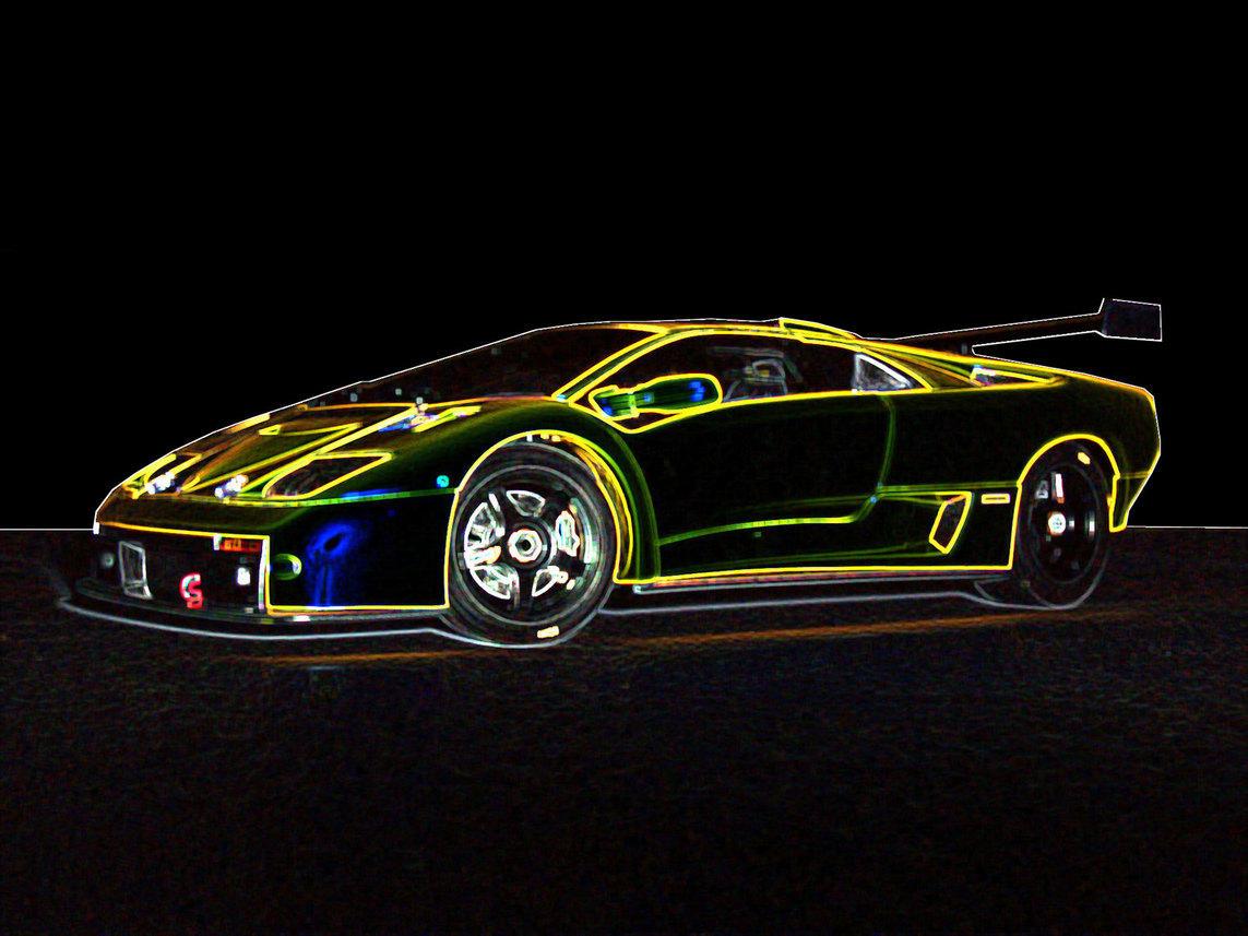Image Gallery Glowing Lamborghini