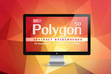 50 Polygon Abstract Backgrounds