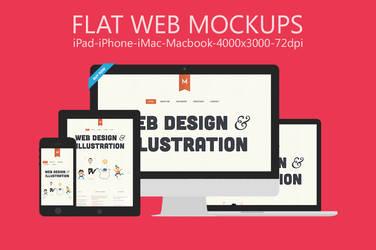 Flat Responsive Web Mockups Vol.1