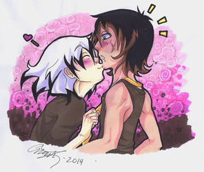 Sweet kiss! by ImoonArt