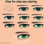 Step for step eye coloring