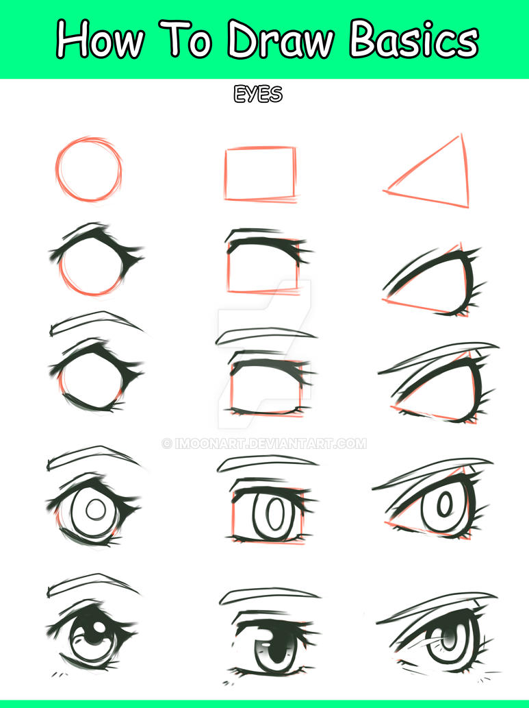 Basic Manga Eye tutorial by ImoonArt on DeviantArt