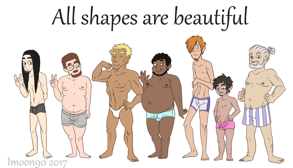 All shapes are beautiful - male by Imoon90