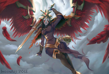 commission #99 Kayle Iron Inquistor by ImoonArt