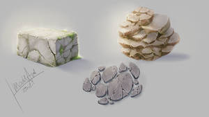 how i draw STONE material