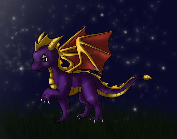 Spyro Night by chazzatron
