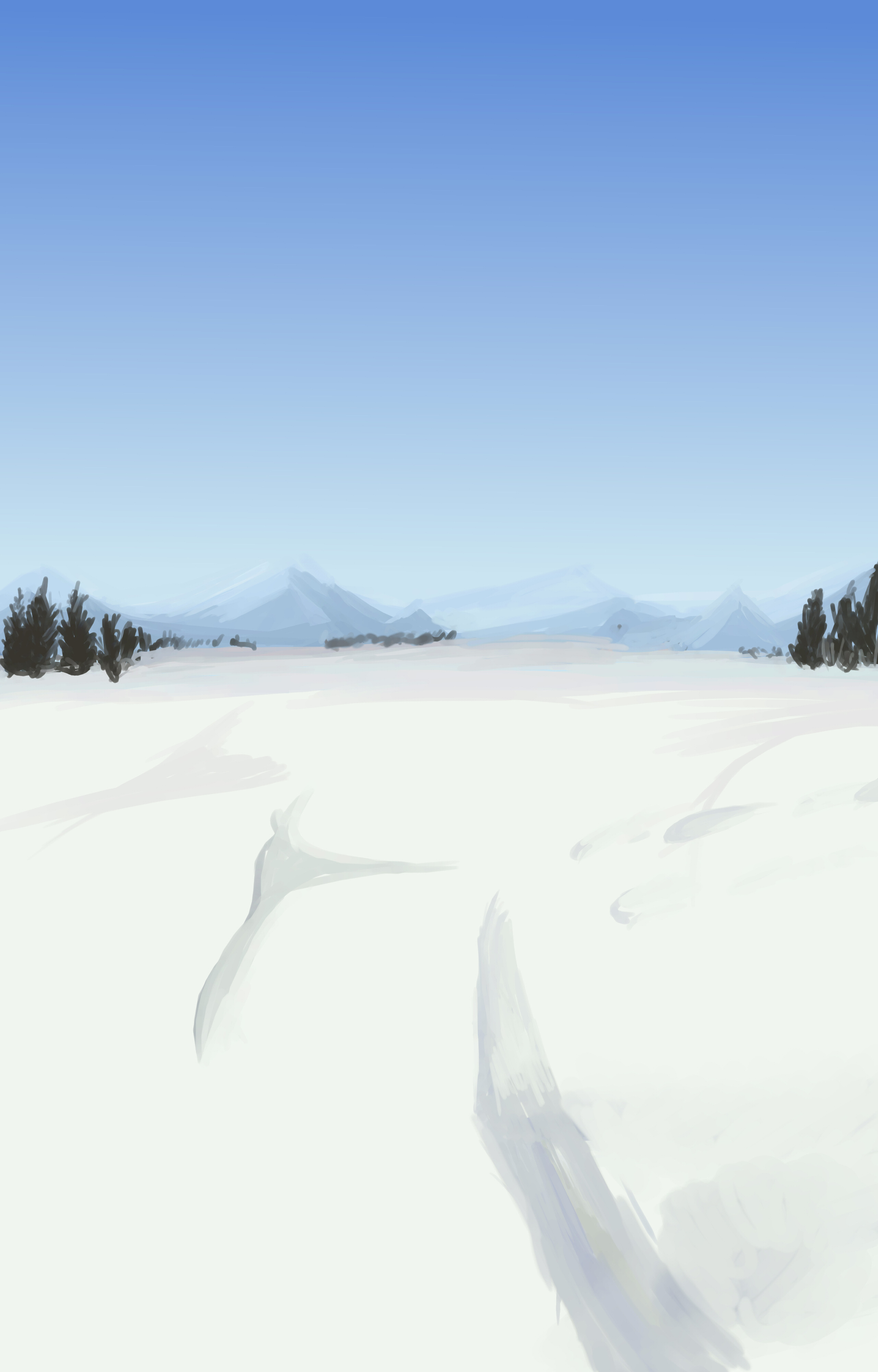 Anime Style Winter Background by wbd on DeviantArt