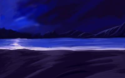 Another Anime Night Beach BG